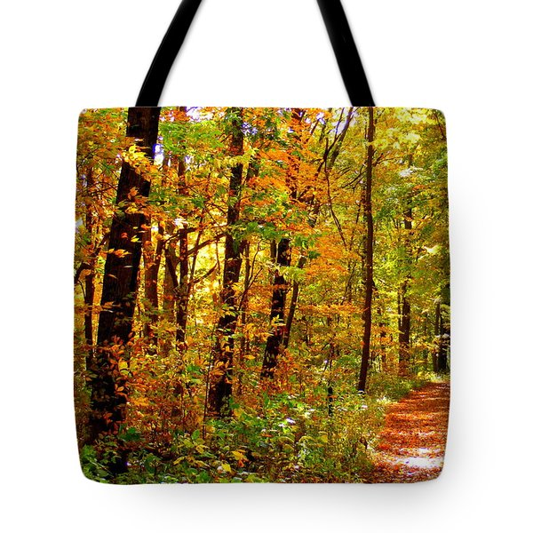 Red Run Trail Tote Bag by Ed Smith