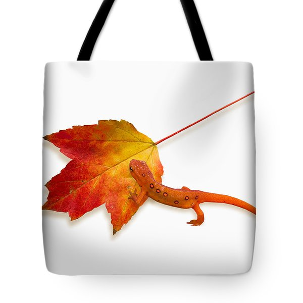 Red Spotted Newt Tote Bag by Ron Jones