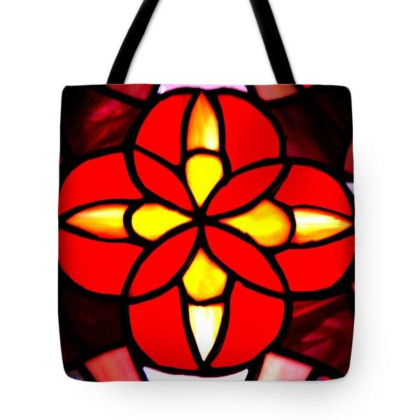 Red Stained Glass Tote Bag by LeeAnn McLaneGoetz McLaneGoetzStudioLLCcom