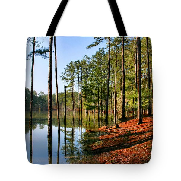 Red Top Mountain Tote Bag by Kristin Elmquist