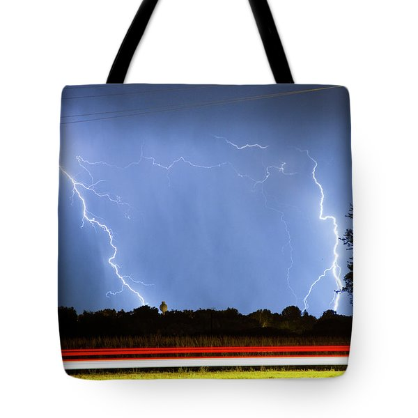 Red White And Blue Tote Bag by James BO  Insogna