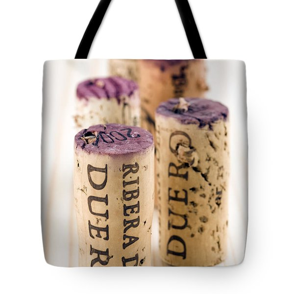 Red Wine Corks From Ribera Del Duero Tote Bag by Frank Tschakert