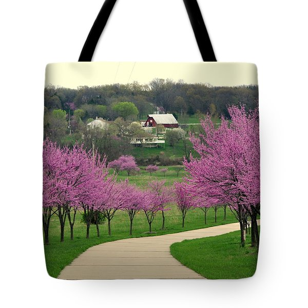 Redbud Tote Bag by Marty Koch