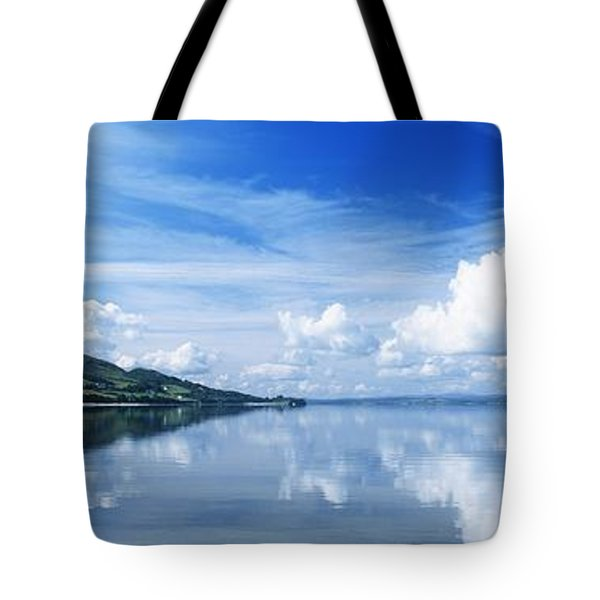 Reflection Of Clouds In Water, Lough Tote Bag by The Irish Image Collection