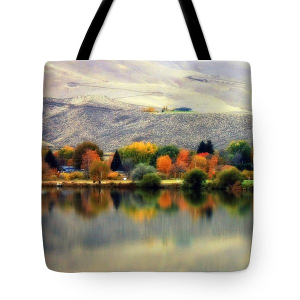 Reflection of Fall in Prosser Tote Bag by Carol Groenen