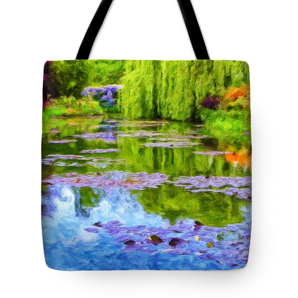 Reflections At Giverny Tote Bag by Dominic Piperata