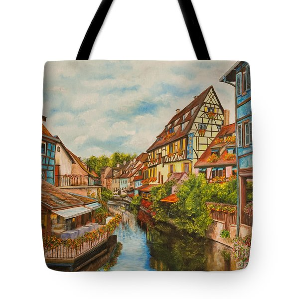 Reflections of Colmar Tote Bag by Charlotte Blanchard