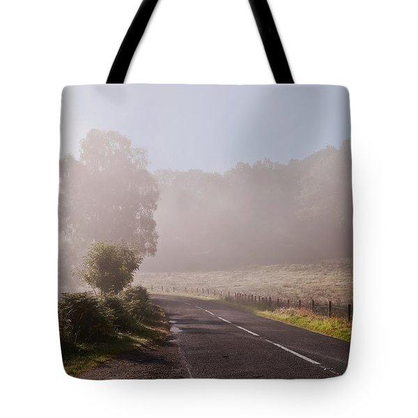 Refreshing Morning Fog In Trossachs. Scotland Tote Bag by Jenny Rainbow