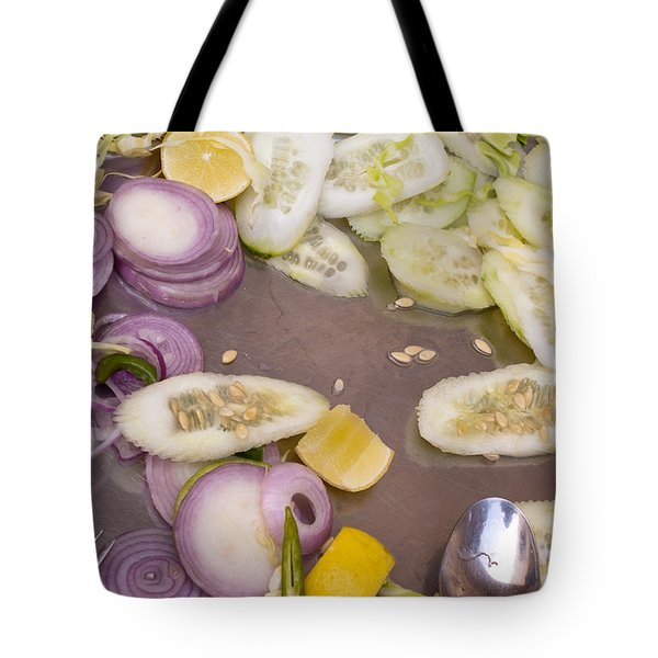 Remains Of A Salad After A Hearty Meal Tote Bag by Ashish Agarwal