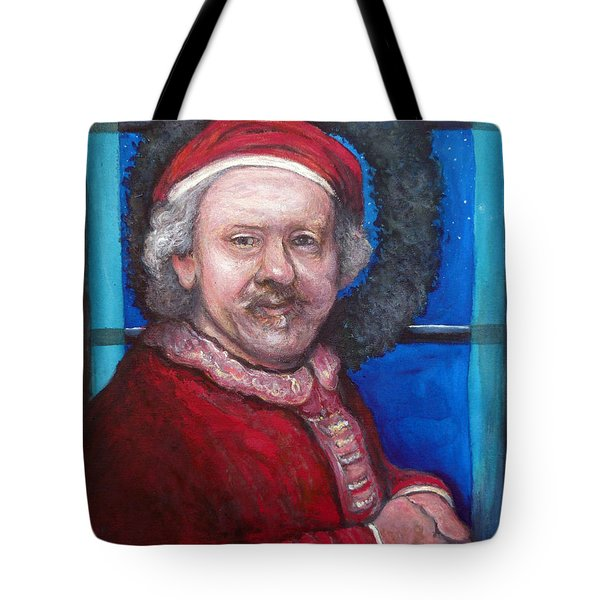 Rembrandt Santa Tote Bag by Tom Roderick