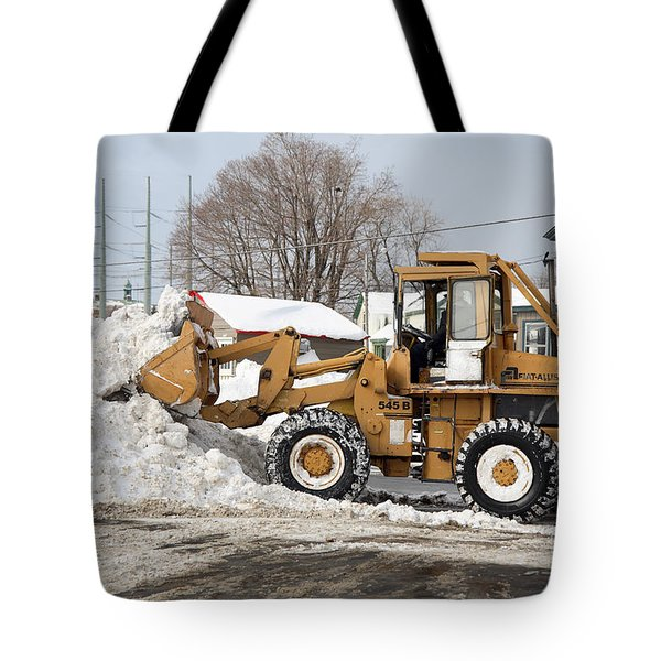 Removing Snow Tote Bag by Ted Kinsman