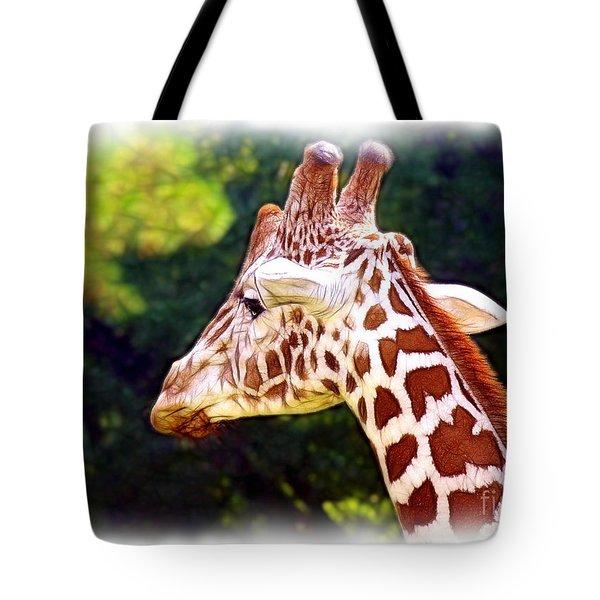 Reticulated Giraffe Tote Bag by Judi Bagwell