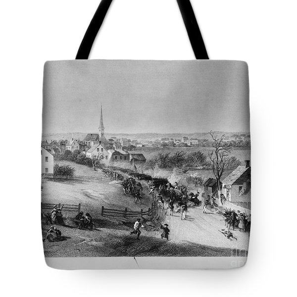 Retreat Of British From Concord Tote Bag by Photo Researchers