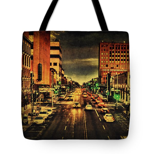 Retro College Avenue Tote Bag by Joel Witmeyer