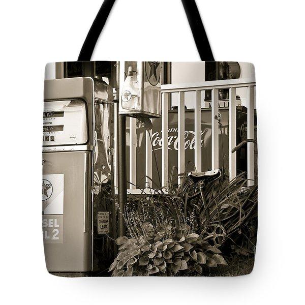 Retro Fuel For Life Tote Bag by Brenda Giasson