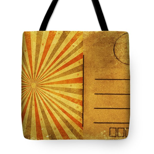 Retro Grunge Ray Postcard Tote Bag by Setsiri Silapasuwanchai