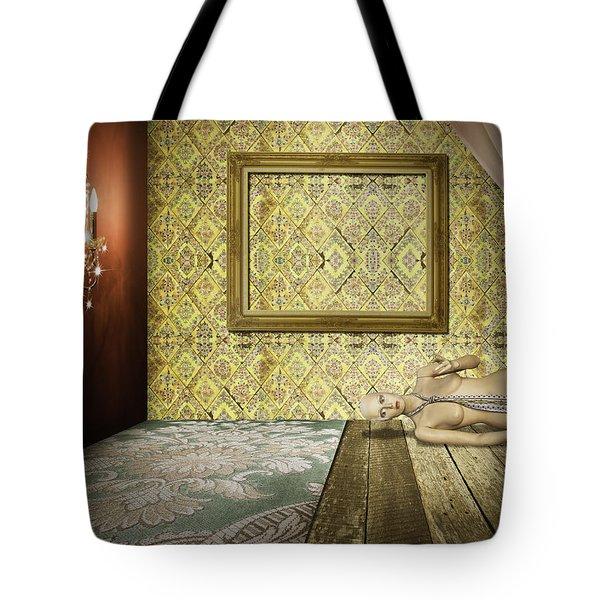 retro room interior Tote Bag by Setsiri Silapasuwanchai