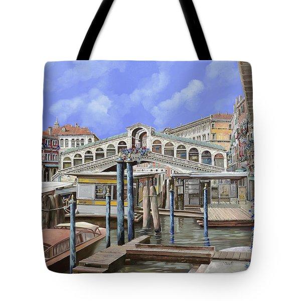 Rialto dal lato opposto Tote Bag by Guido Borelli