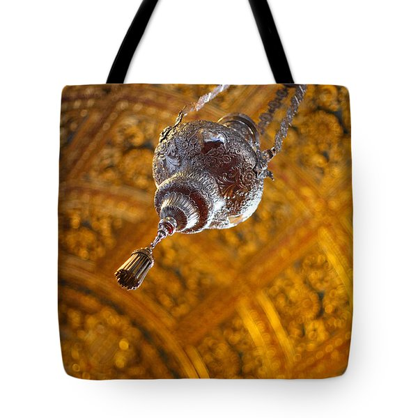Richly Decorated Ceiling Tote Bag by Gaspar Avila