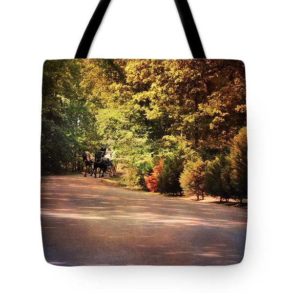 Ride At Timbers Farm Tote Bag by Jai Johnson
