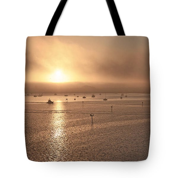 Ringling Bridge Morning Tote Bag by Betsy A  Cutler