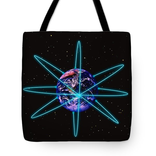 Rings Around The Earth Tote Bag by Stocktrek Images