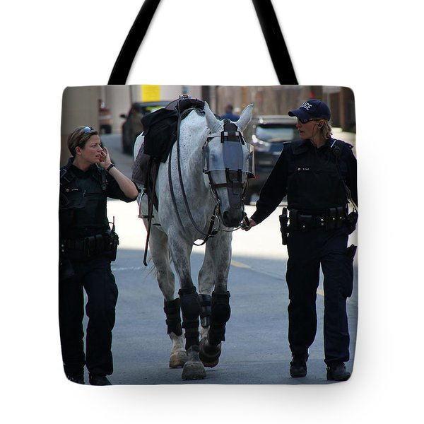 Riot Horse Tote Bag by Andrew Fare
