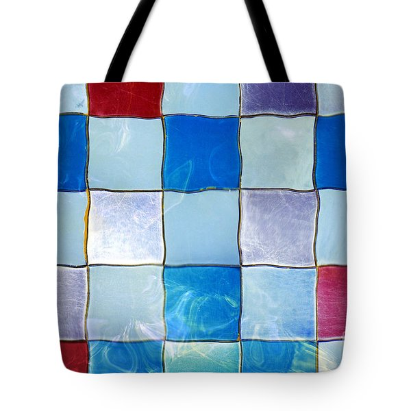 Ripple Tiles Tote Bag by Carlos Caetano
