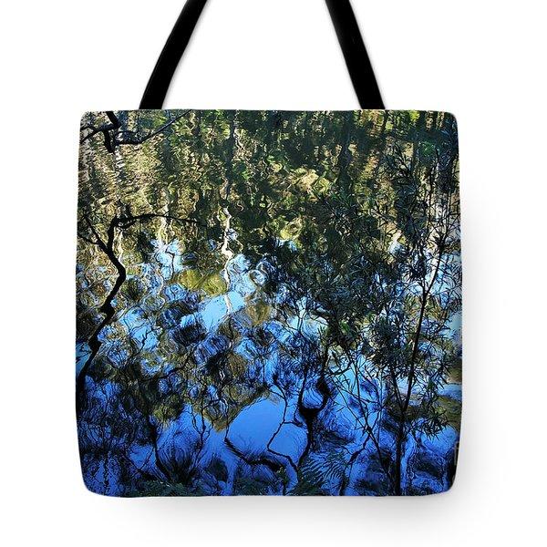 Ripples And Reflections Tote Bag by Kaye Menner