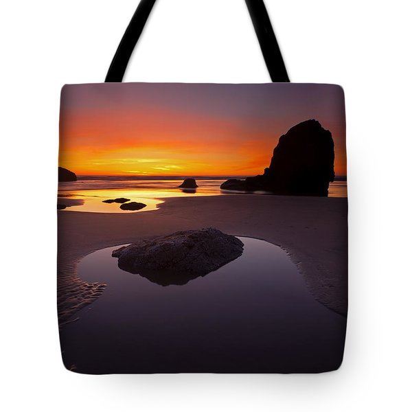 Ripples And Reflections Tote Bag by Mike  Dawson