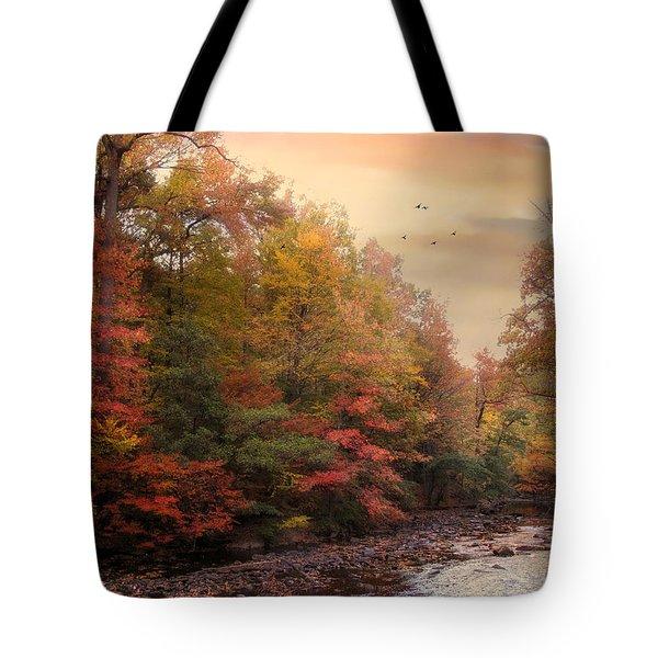 Riverbank Beauty Tote Bag by Jessica Jenney