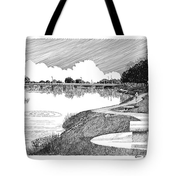 Riverwalk On The Pecos Tote Bag by Jack Pumphrey