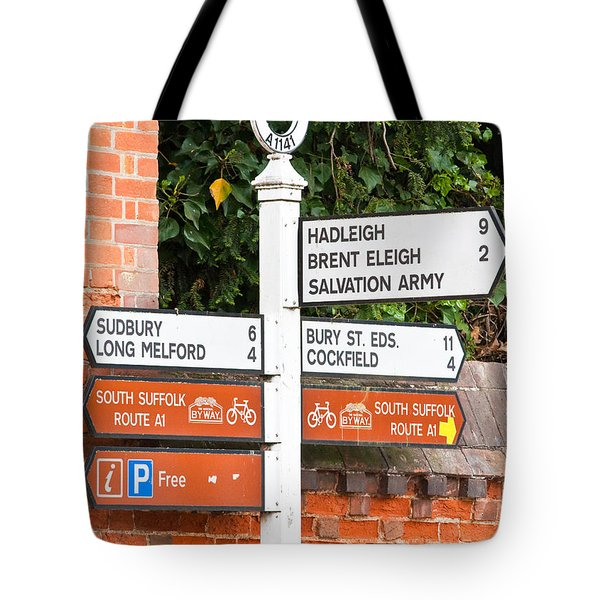 Road Signs Tote Bag by Tom Gowanlock
