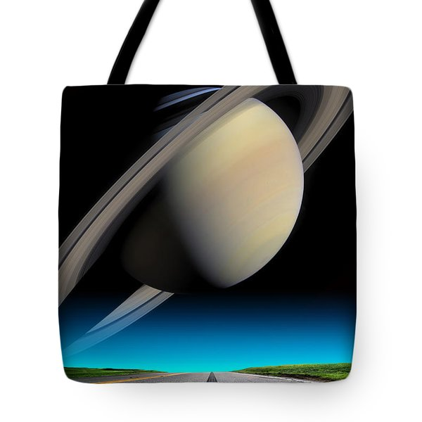 Road To Saturn Tote Bag by Larry Landolfi and Photo Researchers