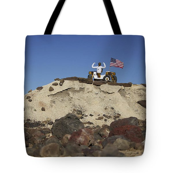Robonaut 2 Poses Atop Its New Wheeled Tote Bag by Stocktrek Images