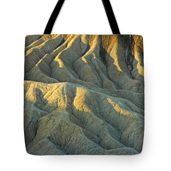 Rock Formations At Death Valley Tote Bag by Dave Mills