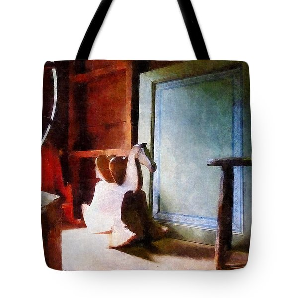Rocking Horse In Attic Tote Bag by Susan Savad