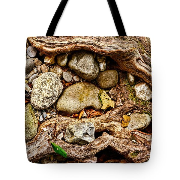 Rocks And Roots Tote Bag by Christopher Holmes