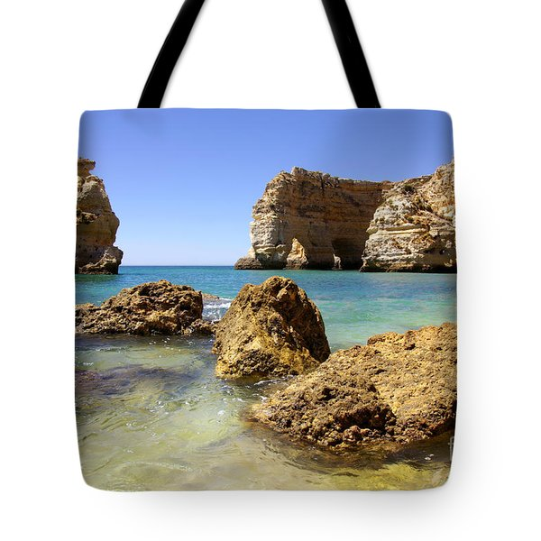 Rocky Coast Tote Bag by Carlos Caetano