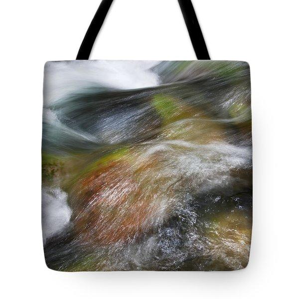 Rocky Riverbed Tote Bag by Jenna Szerlag