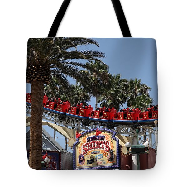 Roller Coaster - 5D17628 Tote Bag by Wingsdomain Art and Photography