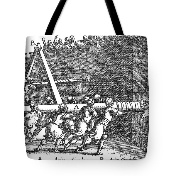Roman Soldiers Attacking Fortress  Tote Bag by Photo Researchers