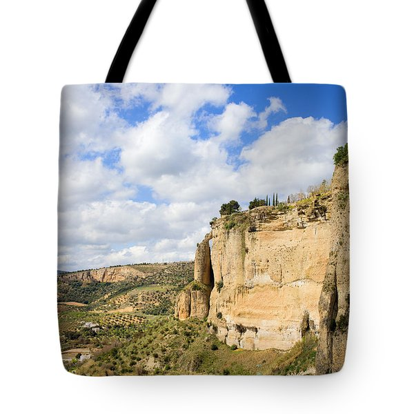 Ronda Cliffs in Andalusia Tote Bag by Artur Bogacki