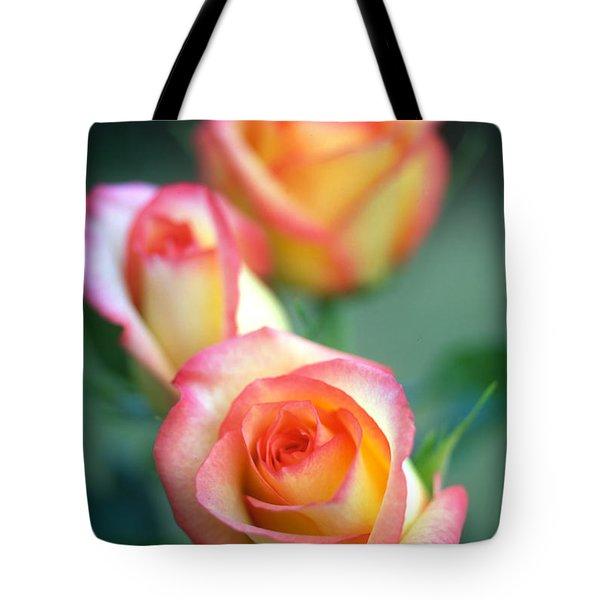 Rose Trio Tote Bag by Kathy Yates