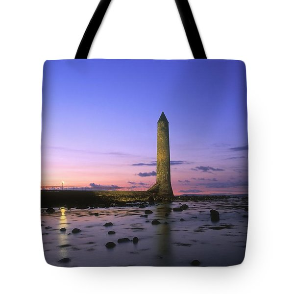 Round Tower, Larne, Co Antrim, Ireland Tote Bag by The Irish Image Collection