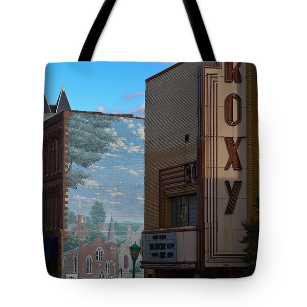 Roxy Theater And Mural Tote Bag by Ed Gleichman