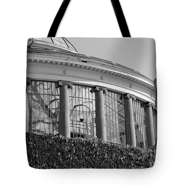 Royal Conservatory In Brussels - Black And White Tote Bag by Carol Groenen