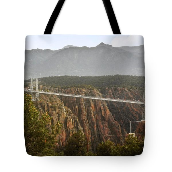 Royal Gorge Bridge Colorado - The World's Highest Suspension Bridge Tote Bag by Christine Till
