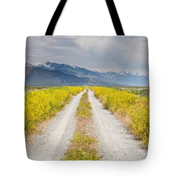 Ruby Mountains Wildflower Road Tote Bag by Sheri Van Wert
