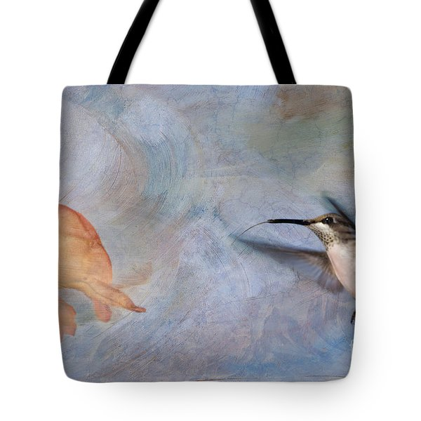 Ruby Throated Hummingbird 2 Tote Bag by Betty LaRue